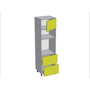 Колонна под духовой шкаф и микроволновку 2 ящика кухня Базис ширина 600 мм высота 2140 мм Модуль №162
