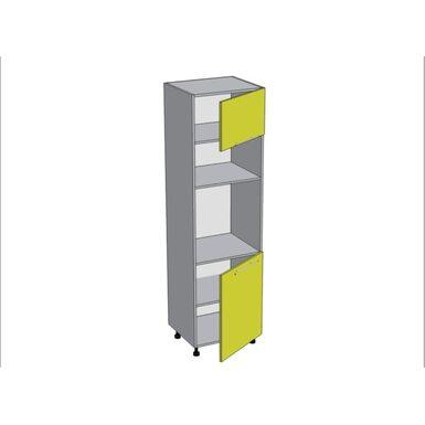 Колонна под духовой шкаф и микроволновку кухня Мишель ширина 600 мм высота 2140 мм Модуль №161