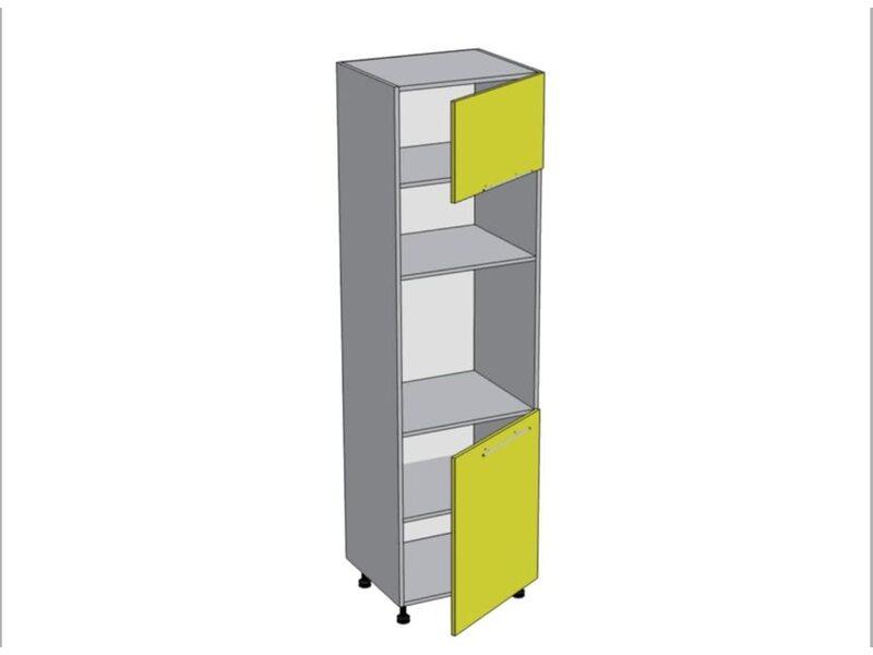 Колонна под духовой шкаф и микроволновку кухня Базис-Классика ширина 600 мм высота 2140 мм Модуль №161