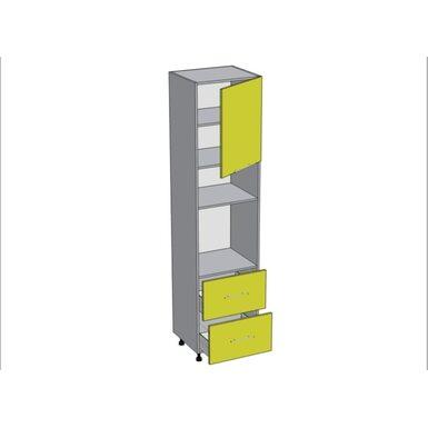 Колонна под духовой шкаф и микроволновку 2 ящика кухня Базис-Классика ширина 600 мм высота 2380 мм Модуль №164