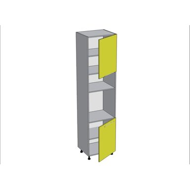 Колонна под духовой шкаф и микроволновку кухня Базис-Классика ширина 600 мм высота 2380 мм Модуль №163
