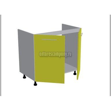 Стол под мойку двухдверный кухня Базис Миксколор ширина 900 мм высота 820 мм Модуль №122
