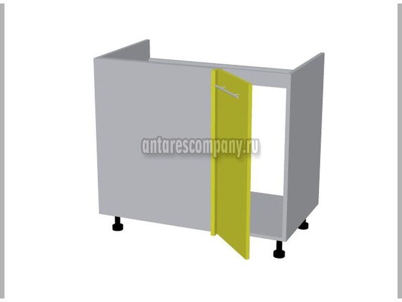 Стол угловой под мойку кухня Базис Linecolor ширина 900 мм высота 820 мм Модуль №124