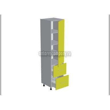 Пенал 2 ящика кухня Базис Вудлайн ширина 600 мм высота 2140 мм Модуль №136