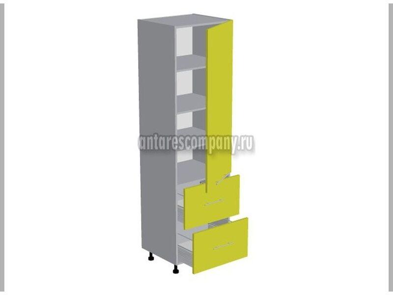 Пенал 2 ящика кухня Базис Миксколор ширина 600 мм высота 2140 мм Модуль №136