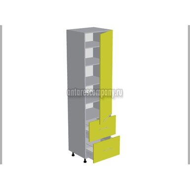 Пенал 2 ящика кухня Базис Миксколор ширина 600 мм высота 2380 мм Модуль №138
