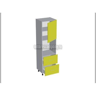 Колонна под духовой шкаф 2 ящика кухня Базис Миксколор ширина 600 мм высота 2140 мм Модуль №132