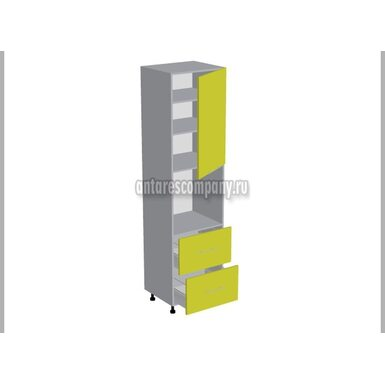 Колонна под духовой шкаф 2 ящика кухня Базис Миксколор ширина 600 мм высота 2380 мм Модуль №134