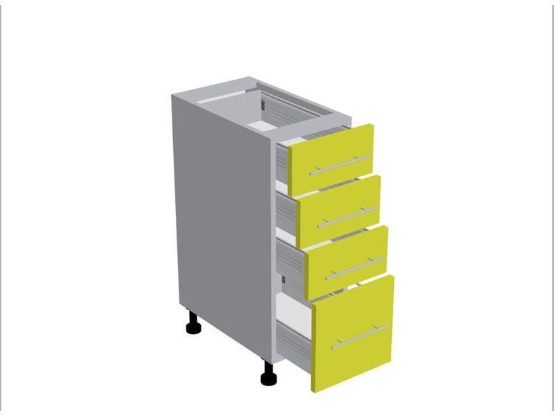 Стол 4 ящика кухня Базис Nicole-Wood ширина 300 мм высота 820 мм Модуль №187