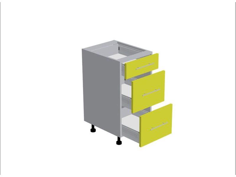 Стол 3 ящика кухня Базис Nicole-Wood ширина 400 мм высота 820 мм Модуль №107