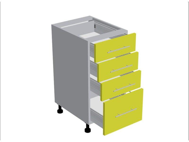 Стол 4 ящика кухня Мишель ширина 400 мм высота 820 мм Модуль №188
