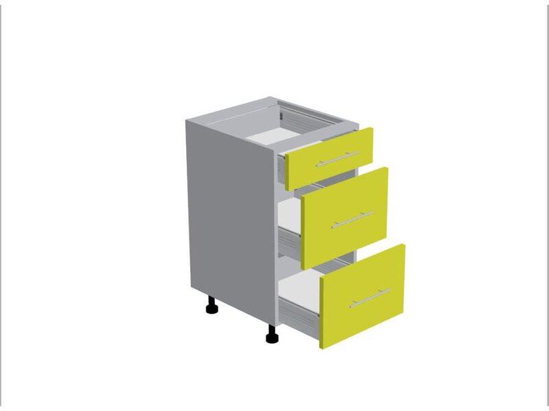 Стол 3 ящика кухня Базис Nicole-Mix ширина 450 мм высота 820 мм Модуль №108