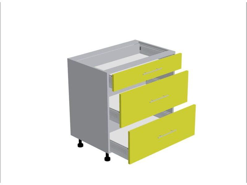 Стол 3 ящика кухня Базис Nicole-Wood ширина 800 мм высота 820 мм Модуль №110