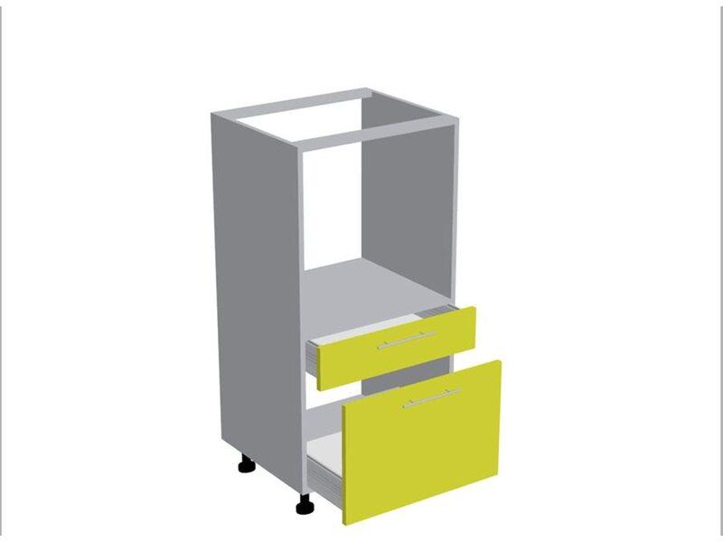 Колонна под духовой шкаф 2 ящика кухня Базис Nicole-Mix ширина 600 мм высота 1140 мм Модуль №182