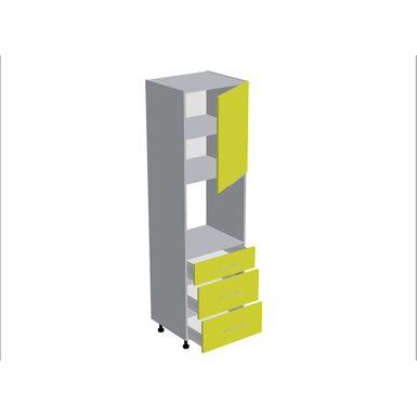 Колонна под духовой шкаф 3 ящика кухня Базис Nicole-Mix ширина 600 мм высота 2140 мм Модуль №183