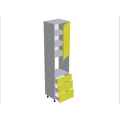 Колонна под духовой шкаф 3 ящика кухня Мишель ширина 600 мм высота 2380 мм Модуль №184