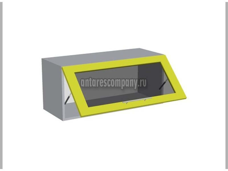 Шкаф горизонтальный со стеклом кухня Базис-Классика ширина 800 мм высота 450 мм Модуль №71
