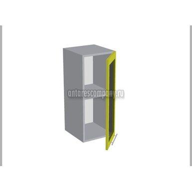 Шкаф однодверный со стеклом кухня Базис Миксколор ширина 300 мм высота 720 мм Модуль №7
