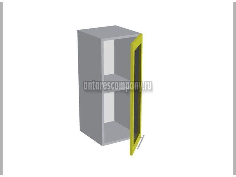 Шкаф однодверный со стеклом кухня Базис Nicole-Wood ширина 300 мм высота 720 мм Модуль №7