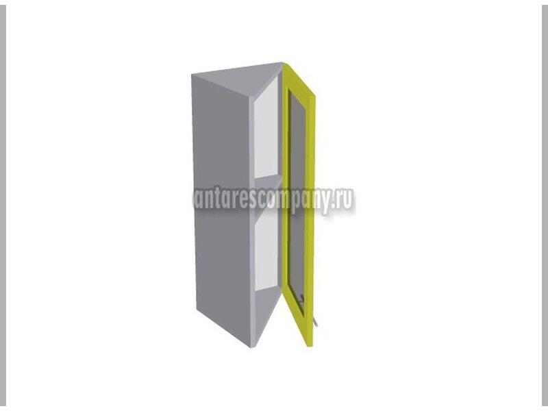 Шкаф завершающий со стеклом кухня Базис Nicole-Mix ширина 315 мм высота 720 мм Модуль №26