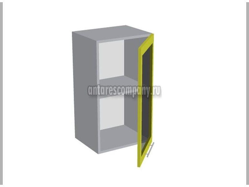 Шкаф однодверный со стеклом кухня Базис Linewood ширина 400 мм высота 720 мм Модуль №9