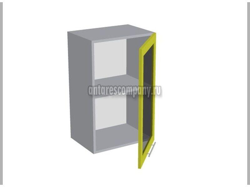 Шкаф однодверный со стеклом кухня Базис-Классика ширина 450 мм высота 720 мм Модуль №10