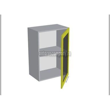 Шкаф однодверный со стеклом кухня Базис Linewood ширина 500 мм высота 720 мм Модуль №11