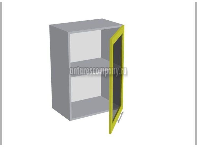 Шкаф однодверный со стеклом кухня Базис Вудлайн ширина 500 мм высота 720 мм Модуль №11