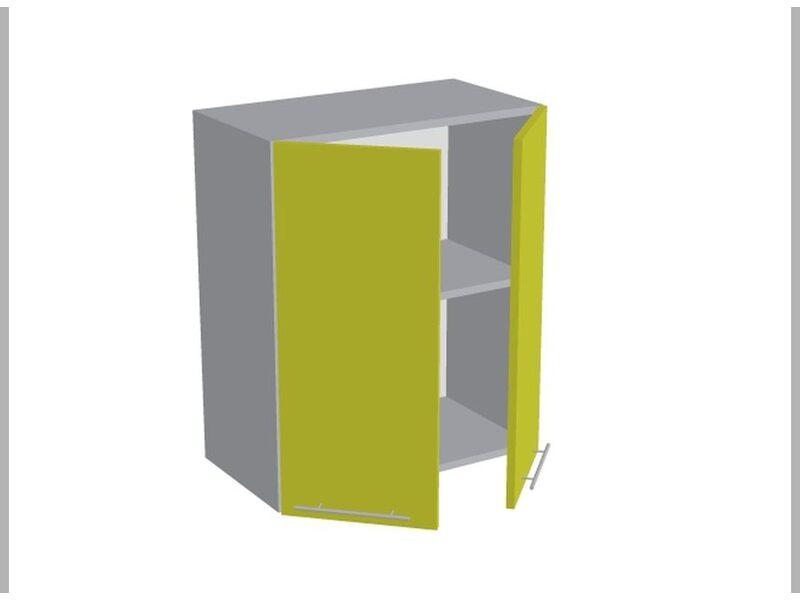 Шкаф двухдверный глухой кухня Базис Вудлайн ширина 600 мм высота 720 мм Модуль №13