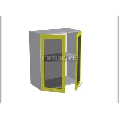 Шкаф двухдверный со стеклом кухня Базис Миксколор ширина 600 мм высота 720 мм Модуль №17