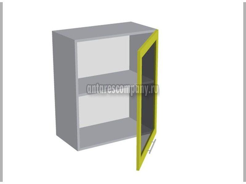 Шкаф однодверный со стеклом кухня Базис Nicole-Mix ширина 600 мм высота 720 мм Модуль №12