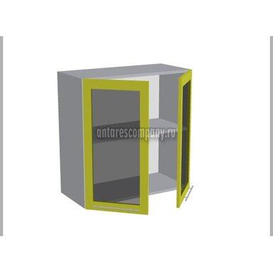 Шкаф двухдверный со стеклом кухня Базис Миксколор ширина 700 мм высота 720 мм Модуль №18