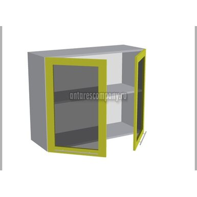 Шкаф двухдверный со стеклом кухня Базис Миксколор ширина 900 мм высота 720 мм Модуль №20