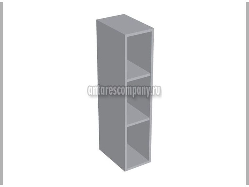 Полка открытая вертикальная кухня Базис Nicole-Mix ширина 250 мм высота 960 мм Модуль №148
