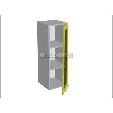 Шкаф однодверный со стеклом кухня Базис Миксколор ширина 300 мм высота 960 мм Модуль №34
