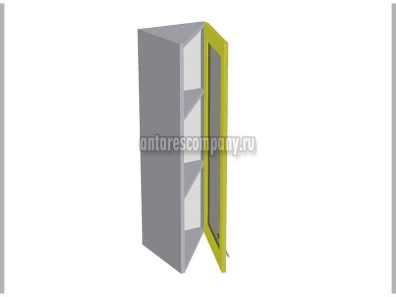 Шкаф завершающий со стеклом кухня Базис Linewood ширина 315 мм высота 960 мм Модуль №53