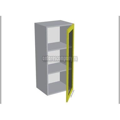 Шкаф однодверный со стеклом кухня Базис Linewood ширина 400 мм высота 960 мм Модуль №36