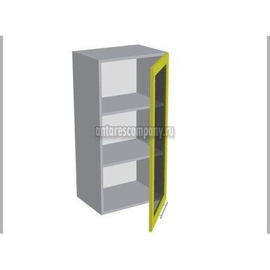 Шкаф однодверный со стеклом кухня Базис Linewood ширина 450 мм высота 960 мм Модуль №37