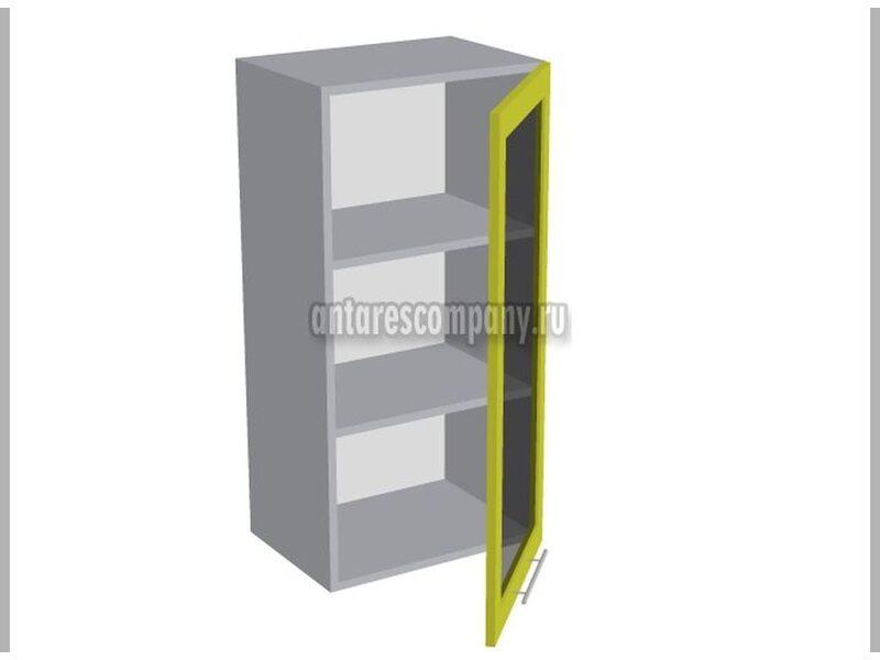 Шкаф однодверный со стеклом кухня Базис Nicole-Wood ширина 450 мм высота 960 мм Модуль №37