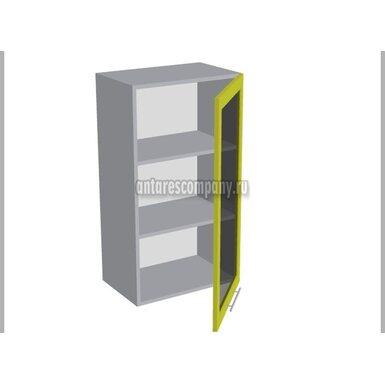 Шкаф однодверный со стеклом кухня Базис Linewood ширина 500 мм высота 960 мм Модуль №38