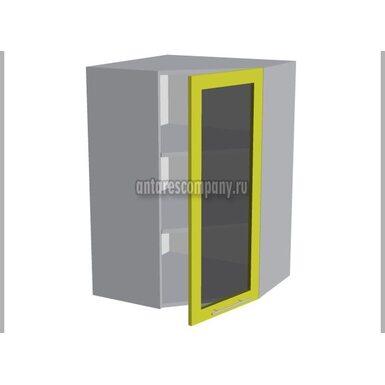 Шкаф угловой со стеклом кухня Базис Linewood ширина 600 мм высота 960 мм Модуль №49