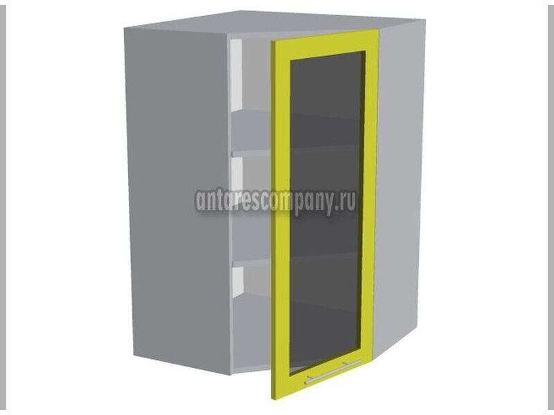 Шкаф угловой со стеклом кухня Базис Nicole-Wood ширина 600 мм высота 960 мм Модуль №49