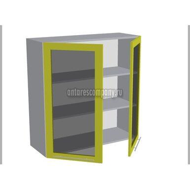 Шкаф двухдверный со стеклом кухня Базис Linewood ширина 900 мм высота 960 мм Модуль №47