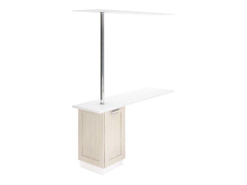 Стол с барной стойкой и надстройкой кухня Вирджиния ширина 1790 мм высота 2096 мм Модуль №148