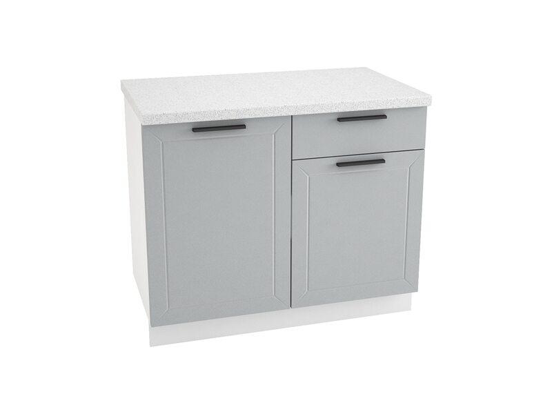 Стол комбинированный 1 ящик кухня Глетчер ширина 1000 мм высота 850 мм Модуль №61