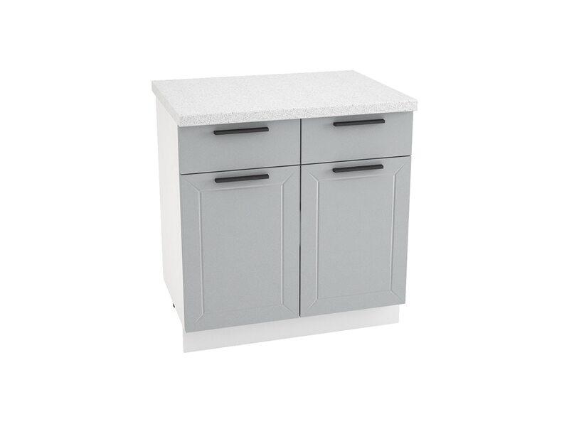 Стол двухдверный 2 ящик кухня Глетчер ширина 800 мм высота 850 мм Модуль №33