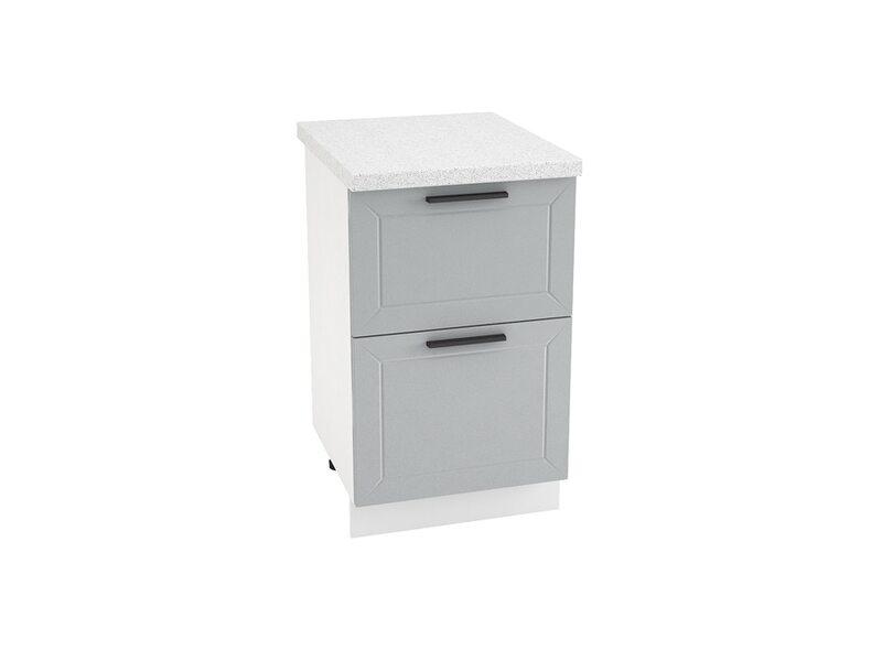Стол 2 ящика кухня Глетчер ширина 500 мм высота 850 мм Модуль №36