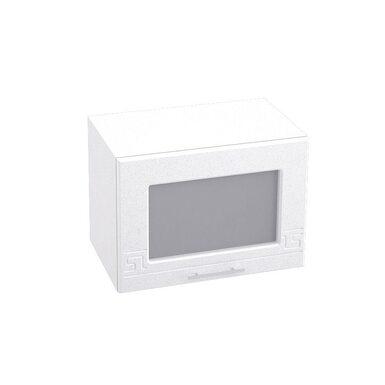 Шкаф горизонтальный со стеклом кухня Греция ширина 500 мм высота 360 мм Модуль №16
