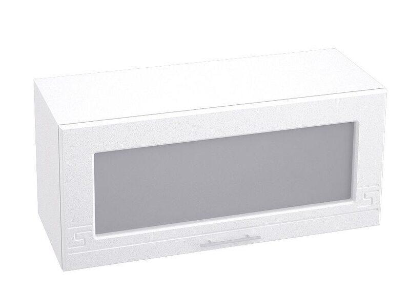 Шкаф горизонтальный со стеклом кухня Греция ширина 800 мм высота 360 мм Модуль №18
