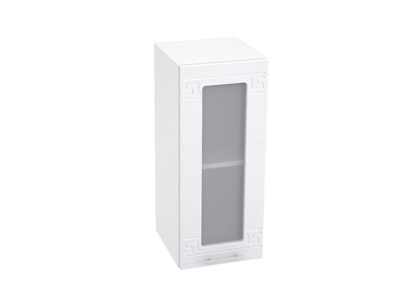 Шкаф однодверный со стеклом кухня Греция ширина 300 мм высота 720 мм Модуль №6